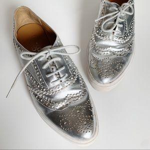 Franco Sarto Nova Platform Oxford Sneakers Silver